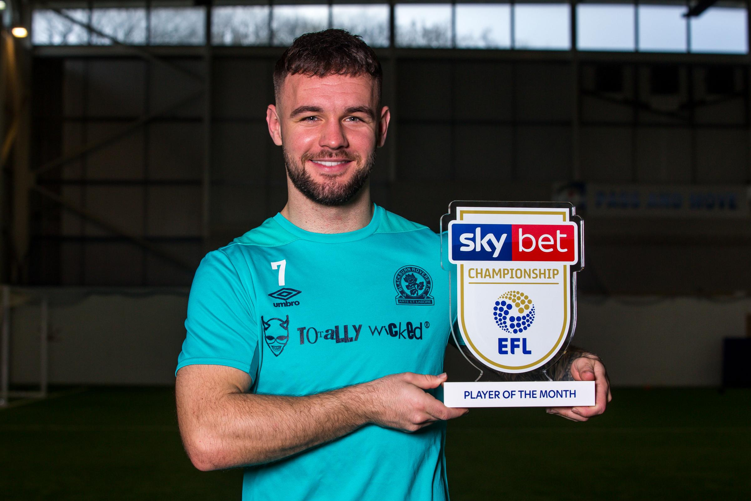 Adam Armstrong won the Championship player of the month award for January