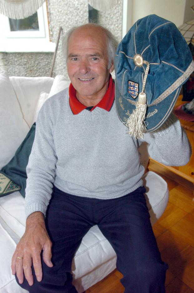 John Connelly with his England cap