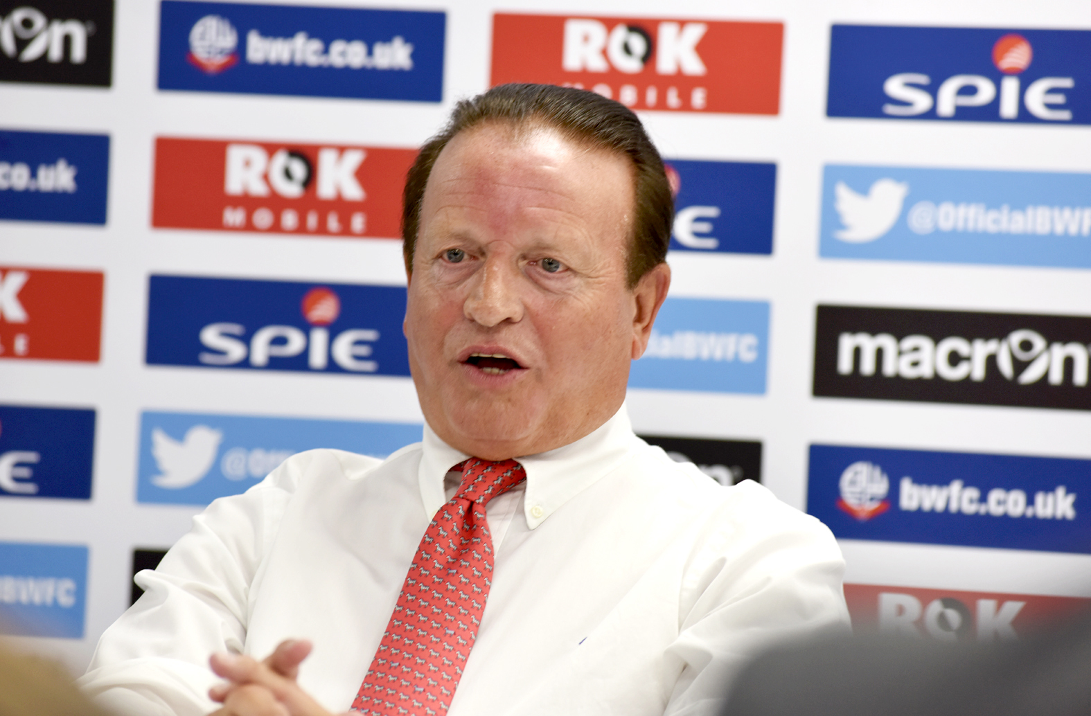 New Bolton Wanderers chairman Ken Anderson