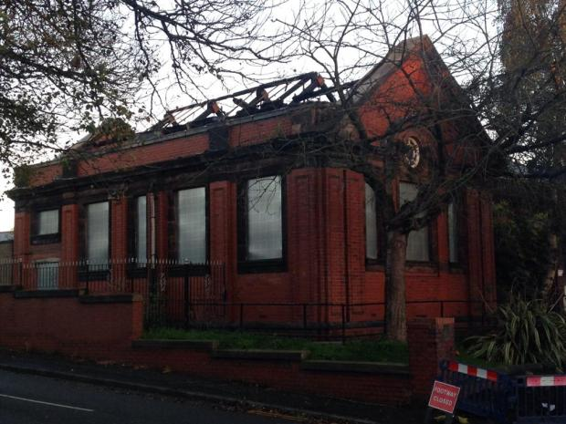 The former Great Lever Library was hit by vandalism, fires and other crime