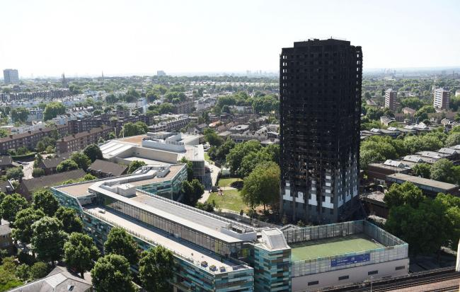 Grenfell Tower. Picture: PA Wire