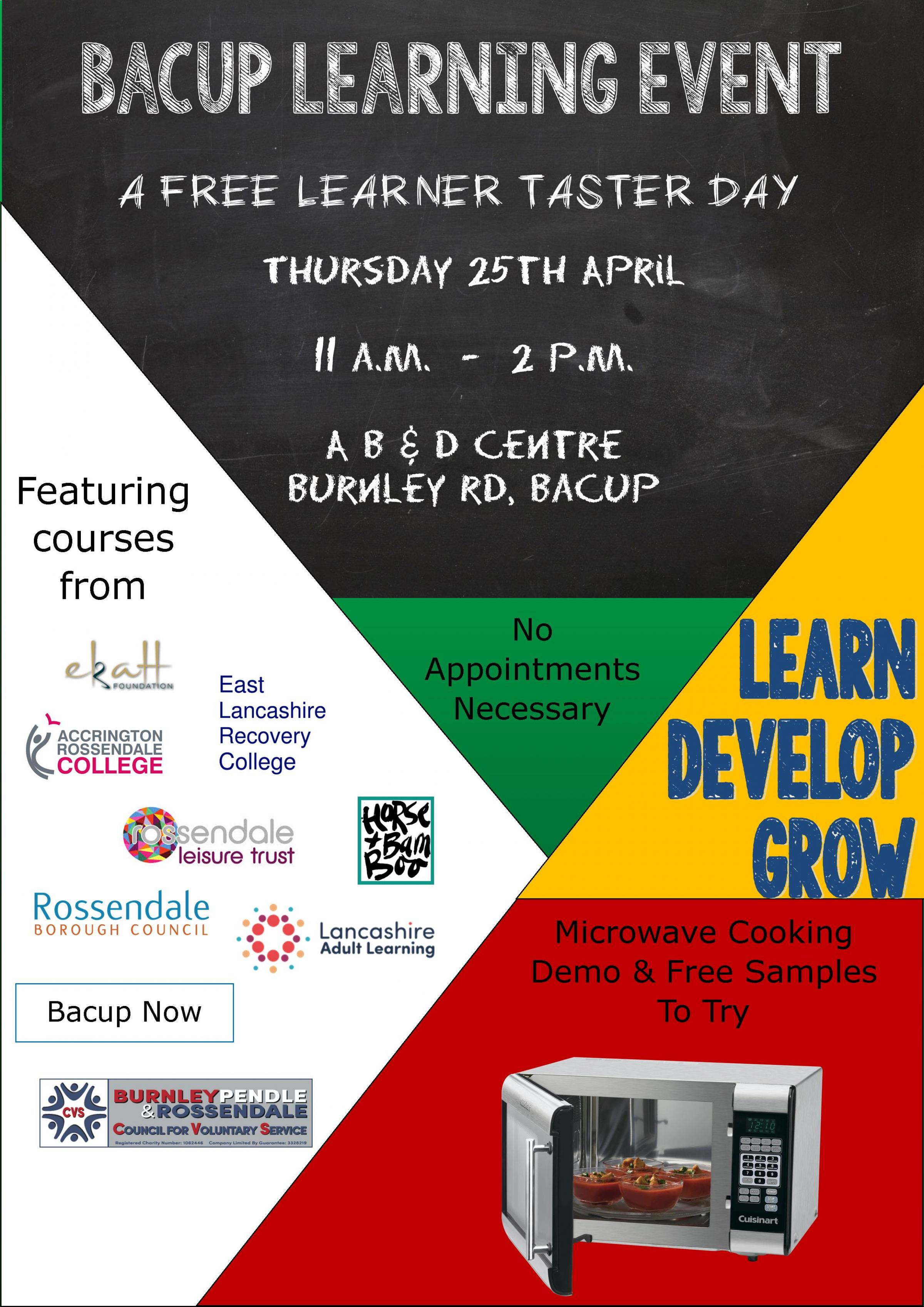 Bacup Learning Event
