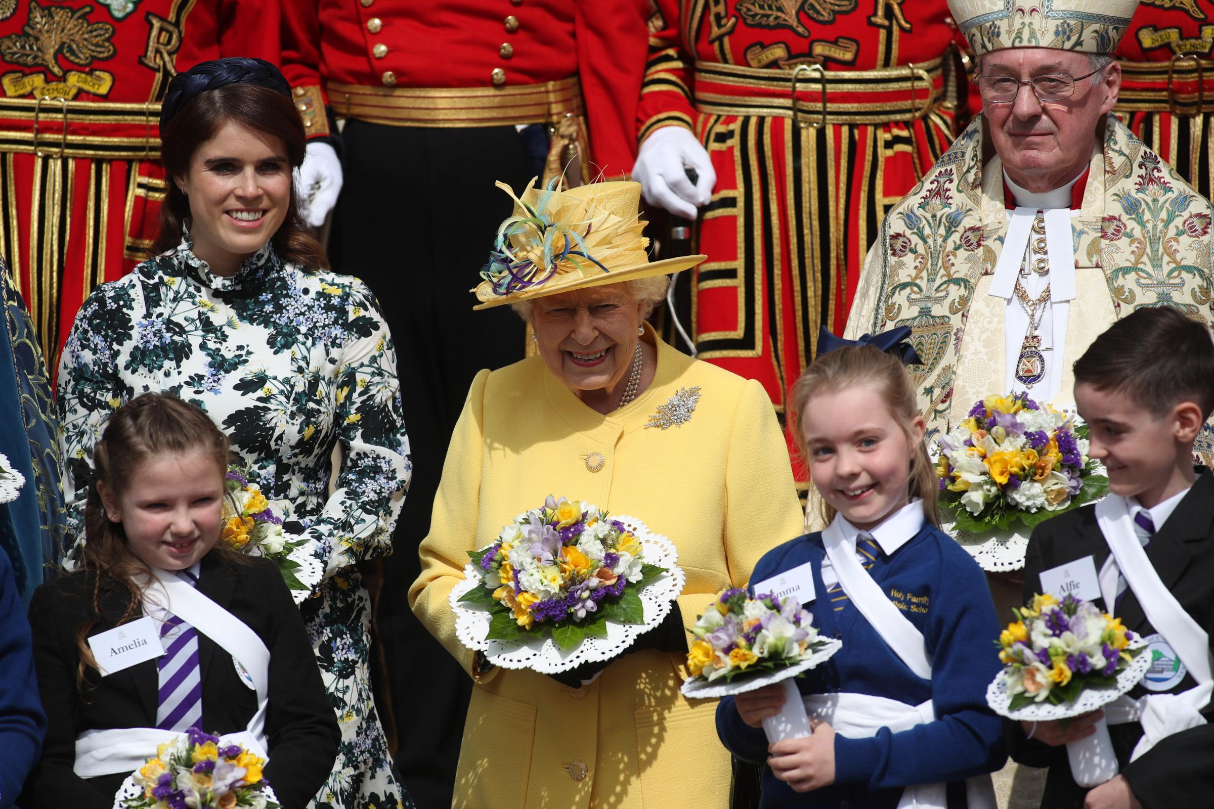 Princess Eugenie with the Queen