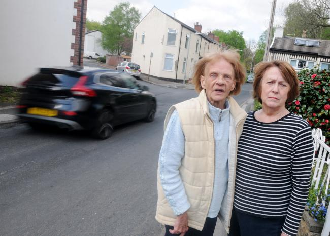 RAT RUN: Residents Janet Sutcliffe and Lynda Eckersley have complained about speeding and parking problems on Berkeley Road