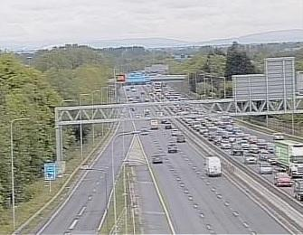 Traffic on the M60 around junction 10