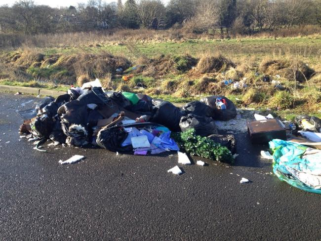 Lisa Burns, 25, was visited by enforcement officers after the team discovered a large flytip in Alders Lane, Bolton