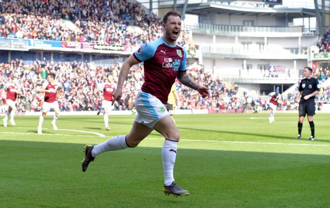 Burnley striker Ashley Barnes