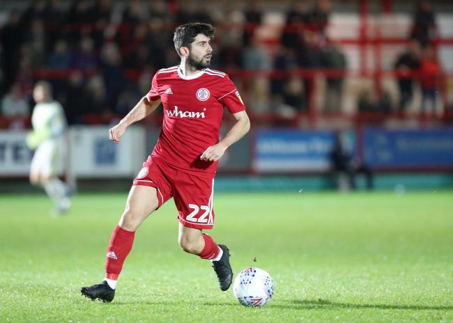 Stanley winger Piero Mingoia finished the season on loan at Morecambe
