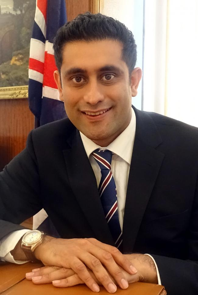 Cllr Rishi Shori, leader of Bury Council
