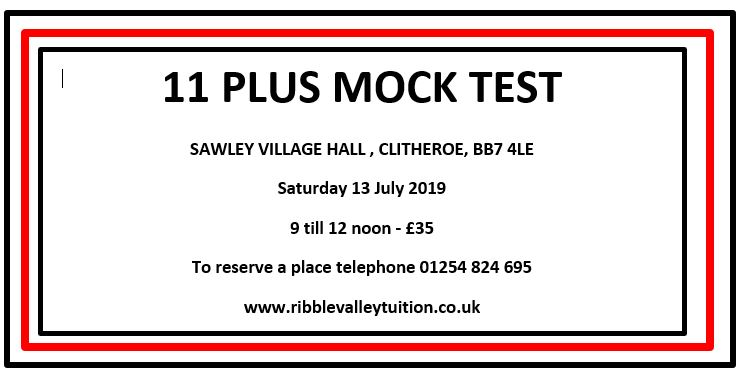 11 Plus Mock Test - Clitheroe